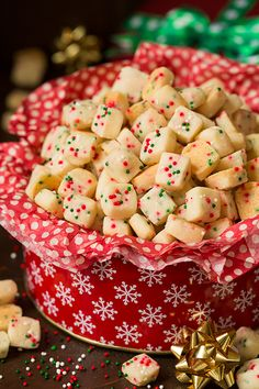 Funfetti Shortbread Bites! Follow my Idaho Spuds Pinterest Board for more great recipes and be sure to enter their Home For The Holidays contest! Thank you Idaho Spuds for sponsoring this board. #downrightdelicious #CG