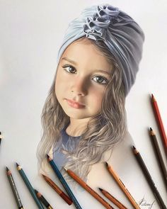 Artist Makes Amazing Hyper-Realistic Drawings Using Only Colored Pencils Realistic Pencil Drawings, Cool Art Drawings, Pencil Art Drawings, Pencil Sketching, Drawing Faces, Colored Pencil Portrait, Colored Pencil Artwork, Colored Pencils, Hyperrealistic Drawing