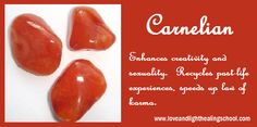 """Carnelian - crystal message: """"you are motivated by divine purpose. allow yourself to tap into universal creativity and feel it flow through you. if you remain focused, you will manifest your vision with ease. Crystals And Gemstones, Stones And Crystals, Healing School, Gem Meaning, I Got A Rock, School Of Rock, Crystal Magic, Healing Stones, Healing Crystals"""