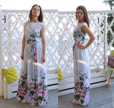 2016 Women Summer Dress Print Maxi Dress O-Neck Sleeveless Dresses Boho Sexy Party Long Dress Plus Size With Belt Vestidos alishoppbrasil