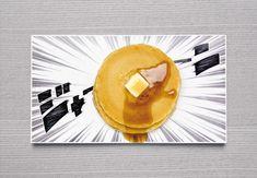 あら不思議、のせた食べ物が「ジャーン」と飛び出して来たり、「キラキラ」と輝いて見えてきます。Manga plates