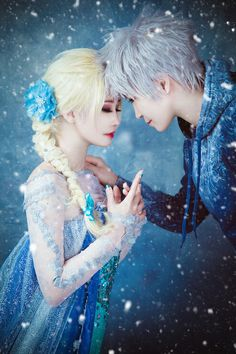 You're not a Monster Elsa by AnKyeol.deviantart.com on @deviantART - Elsa and Jack Frost cosplay
