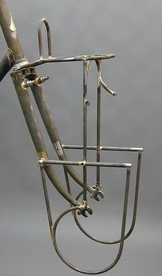 beautiful curves on this (in progress) detachable front rack by Tony Pereira