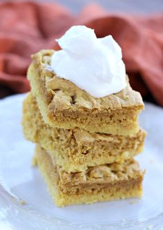 Pumpkin Blondies. Pu