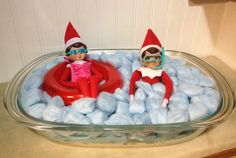Elf on the Shelf…..Pool Party