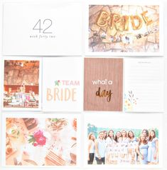 made by Justt Project Life Album, Bride, Day, Projects, Wedding Bride, Log Projects, Blue Prints, Bridal, The Bride