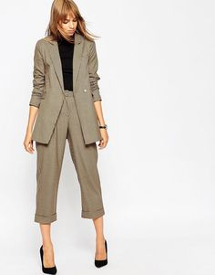 ASOS | ASOS Premium Boyfriend Blazer in Mini Check Co-ord at ASOS