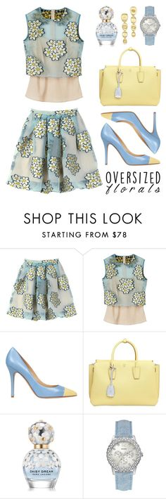 """""""Oversized Florals"""" by lgb321 ❤ liked on Polyvore featuring RED Valentino, Semilla, MCM, Marc Jacobs, GUESS and Marco Bicego"""