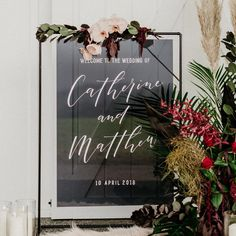 Acrylic Portrait Modern Transparent Black Welcome Sign - Fox and Hart Welcome To Our Wedding, Wedding In The Woods, Wedding Day, Wood Wedding Signs, Wedding Signage, Simple Wedding Decorations, Simple Weddings, Wedding Stationery, Wedding Invitations