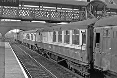 Nice old Gresley Buffet at Stevenage 1967 by 70023venus2009, via Flickr Stevenage, Rolling Stock, Coaches, Wonderful Places, Old Town, Trains, Past, Buffet, Nostalgia