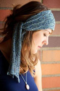 Azure - The Bohemian Headscarf Pattern - Knitting Pattern by Chelsea Anne Design