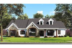Find your dream farm style house plan such as Plan which is a 2112 sq ft, 3 bed, 2 bath home with 2 garage stalls from Monster House Plans. House Plans 3 Bedroom, Garage House Plans, Car Garage, Story House, My House, Farm House, Affordable House Plans, Home Insulation, Wall Exterior