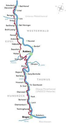 Etappen/Tourenplaner: RheinBurgenWeg