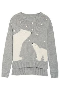 Buy Grey Polar Bear Sweater from the Next UK online shop