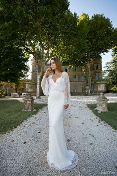 Julie Vino 2015 Provence Bridal | provence pearlie sheath wedding dress sweetheart necklin pearl bead