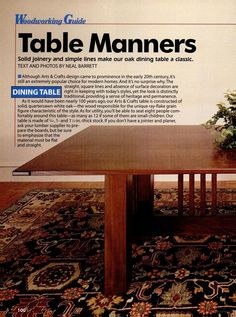 Mission Style Dining Table
