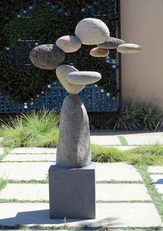 Rock Sculpture, Outdoor Sculpture, Outdoor Art, Garden Sculpture, Sculptures, Caillou Roche, Outdoor Furniture Plans, Contemporary Sculpture, Rock Crafts