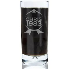 Personalised Bubble Hi Ball Glass - Star Badge :: Add a personal message - In Stock Now - Fast UK Despatch. Personalised Glasses, Personalised Gifts, Mother Of The Groom Gifts, Father Of The Bride, Fathers Day Gifts, Man Gifts, Usher Gifts, Engraved Gifts, Bride Gifts