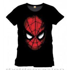 CAMISETA MARVEL SPIDER-MAN ROSTRO M … en Dvd de Ocasión, Artículo original y licenciado del personaje Marvel Spider-Man