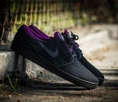Nike SB Lunar Janoski Low - Black / Mulberry