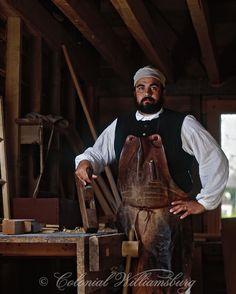 Carpenter at Colonial Williamsburg, Williamsburg, Virginia. Photo by David M. Doody