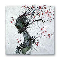 Краски, провода и полупроводники. Восточная живопись Ким Ен Су (Kim Yong Soo)