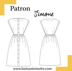 Robe Simone Patron - Patrons Femme/Robes - Louis Antoinette