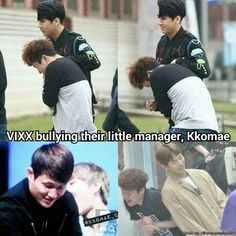 Other groups seen being bullied by their manager, VIXX seen bullying their manager