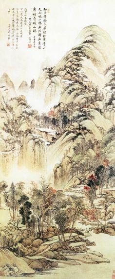 Wang Hui(王翬) ,   虞山枫林图 北京故宫藏