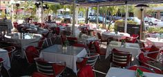 Cafe Luna - Naples, FL - excellent lunch with large, shaded, misted outdoor dining patio