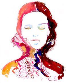 Costume Fashion Illustration, Watercolor Fashion Illustration, Fashion Print, Fashion Wall Art, Fashion Gift, Costume Illustration Print