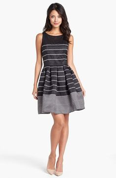 Striped a-line dress. So pretty!