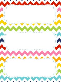 FREE Rainbow Chevron Theme Name Tags for Student Desks from Lindsey's Classroom Creations on TeachersNotebook.com (4 pages) More