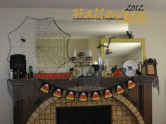 Halloween/fall mantle ideas