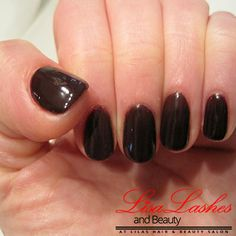 Plain Black Gel Nails in Burnley