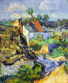 Vincent van Gogh - Houses at Auvers, 1890 Boston Museum of Fine Arts