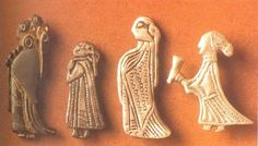 Amulets of women - possibly Valkyries! (6th century, Sweden)