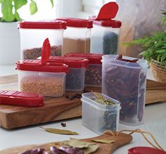 Tupperware   Spice Containers Set. Earn products for free by hosting an online party. https://www.facebook.com/julieclancytupperware