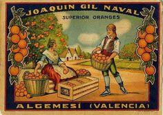 Cartel de Naranjas de Joaquín Gil - Algemesí