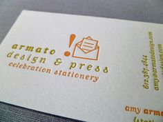 Armato Design & Press Logo - Graphic Design by Amy Armato, Letterpress printing by Armato Design & Press
