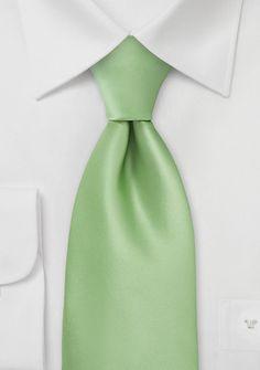 Kinder-Krawatte hellgrün einfarbig