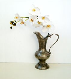 Vintage pewter pitcher  Italian Pewter Water by millyscollection,