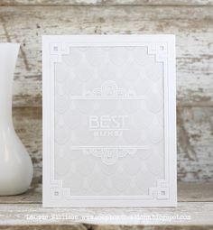 Best Wishes Card by Laurie Willison for Papertrey Ink (March 2014)
