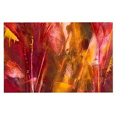 KESS InHouse Malia Shields 'warmth' Orange Red Dog Place Mat, 13' x 18' * To view further, visit now (This is an amazon affiliate link. I may earn commission from it)
