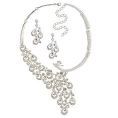#Jane Stone Luxurious Gorgrous Flawless Glam Jewelry Sets Crystal Exquisite #Wedding #Bridal Necklace is so stunning......