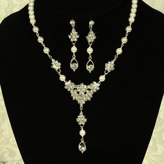 CARLING Bridal Jewelry SET Ivory Pearl and by GlamorousBijoux, $132.00