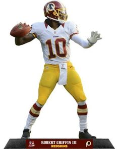 Robert Griffin III Washington Redskins Standz Photo Sculpture by NFL. $22.99. Robert Griffin III Washington Redskins Standz...  Mounted on a wooden base with an engraved color name plate, our table top heroes are the highest quality photo sculptures available.  Carved by precision laser guided equipment and constructed of 6 mil expanded PVC, each sculpture is cut to the exact shape of the photo laminated on its surface.  Since we use exhibition quality photographs...