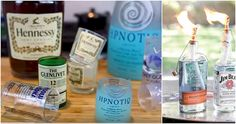 15 Easy Ways To Turn All Those Empty Liquor Bottles Into Something Cute