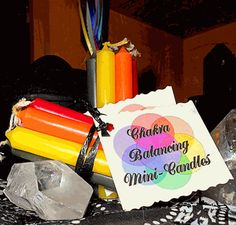 Chakra Mini Candle Set - pagan wiccan witchcraft magick ritual supplies