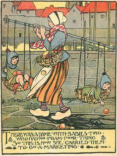 Babies two Denis Zilber, Nursery Rhymes Poems, Tarot, Japanese Drawings, Vintage Fairies, Postcard Art, Design Repeats, Vintage Children's Books, Children's Book Illustration